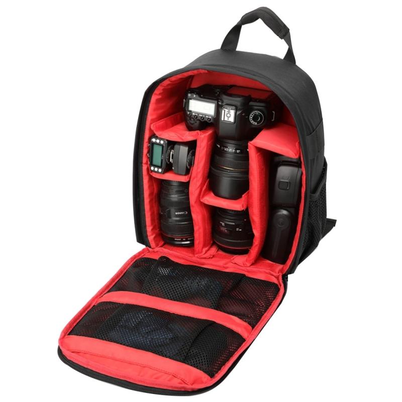 INDEPMAN DL-B012 Outdoor Buitensport Backpack Rugtas Camera Tas voor GoPro  SJCAM  Nikon  Canon  Xiaomi Xiaoyi YI  Afmetingen: 27.5 x 12.5 x 34 cm (rood)