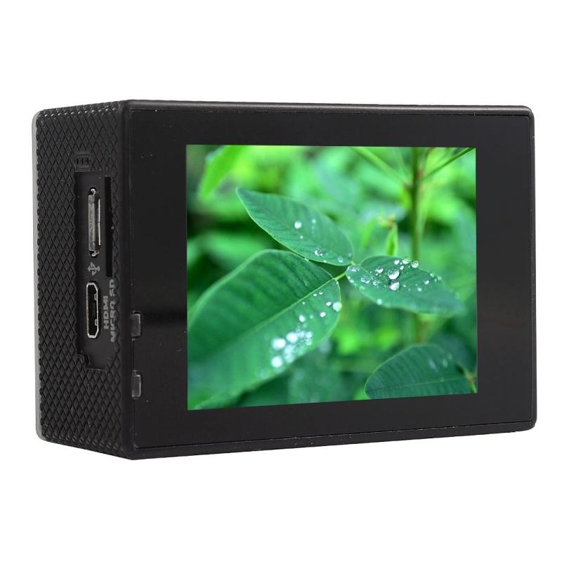 F60 2.0 inch scherm 4 K 170 graden breed hoek WiFi Sport actie Camera Camcorder ontmoet huisvesting Waterdicht hoesje, ondersteuning van 64 GB Micro SD Card(zwart)