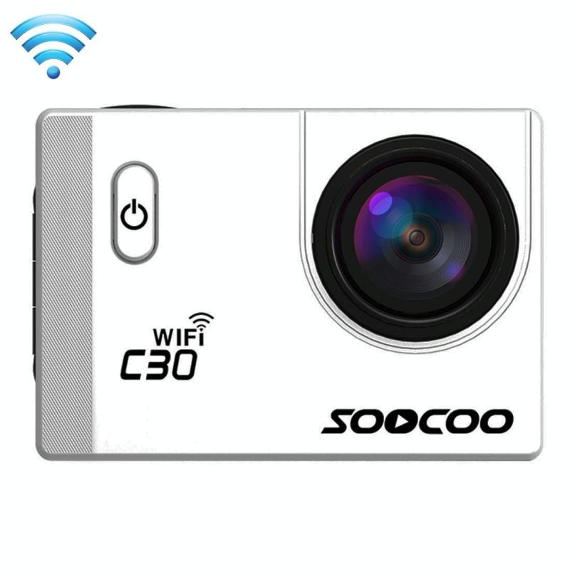 SOOCOO C30 2.0 inch scherm 4 K 170 graden breed hoek WiFi Sport actie Camera Camcorder ontmoet huisvesting Waterdicht hoesje, ondersteuning van 64 GB Micro SD-kaart, HDMI-uitgang, Got de CE / RoHS-certificering wit