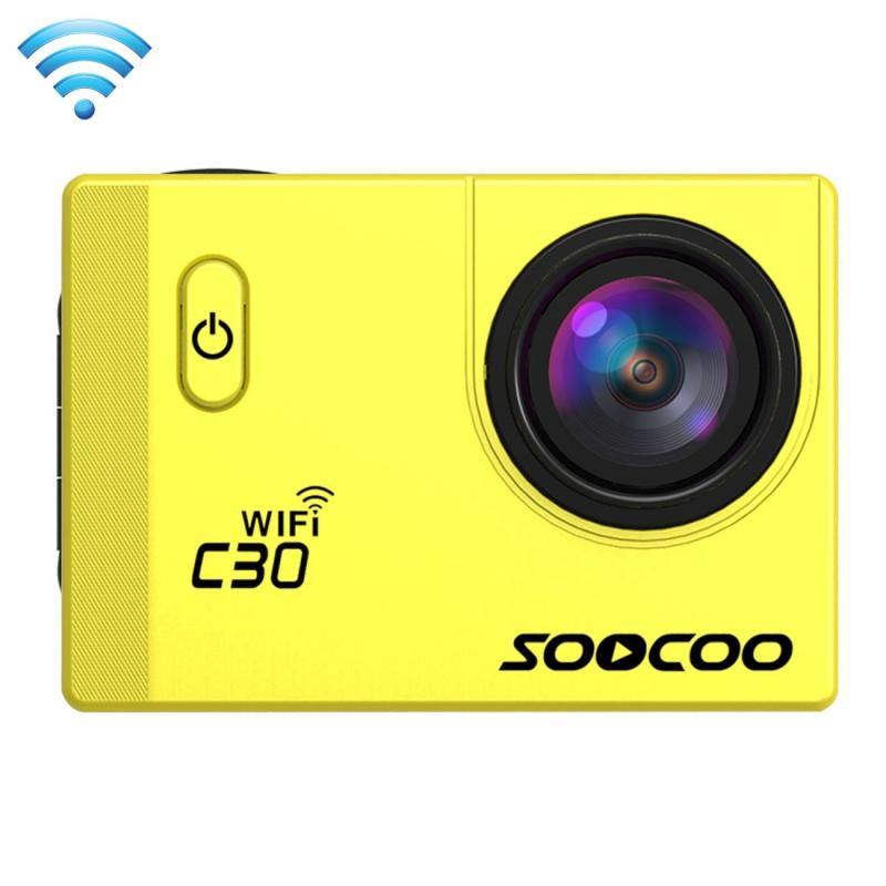 SOOCOO C30 2.0 inch scherm 4 K 170 graden breed hoek WiFi Sport actie Camera Camcorder ontmoet huisvesting Waterdicht hoesje, ondersteuning tot 128GB Micro SD-kaart, duiken rood licht compensatie, stem Prompt, gyroscoop Anti-Shake, HDMI-uitgang, kreeg de