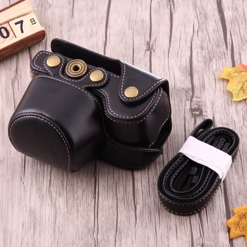Full Body Camera PU lederen Case tas met riem voor Sony A6000 (zwart)