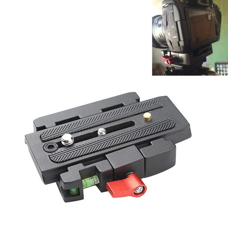 Snelkoppel Klem Houder + Plaat P200 Compatibel voor Manfrotto 501 500AH 701HDV 503HDV Q5 (zwart)