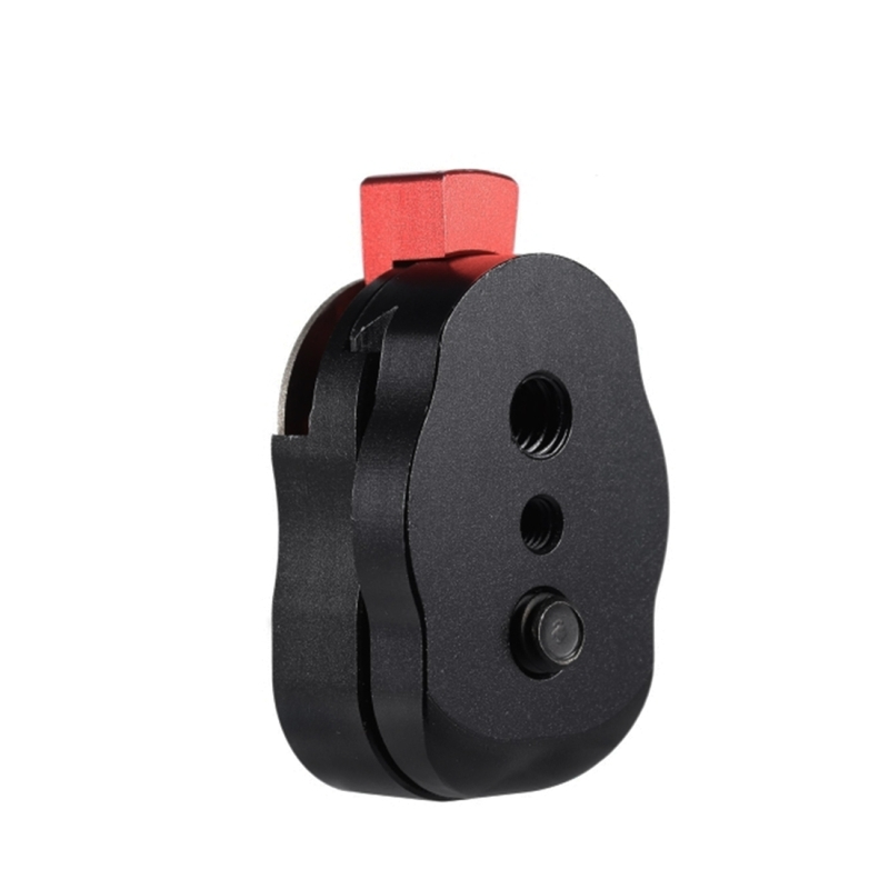 Mini Snelkoppel Plaat voor LCD Monitor Magische Arm LED lamp Camera Camcorder Kooi Rig (zwart)