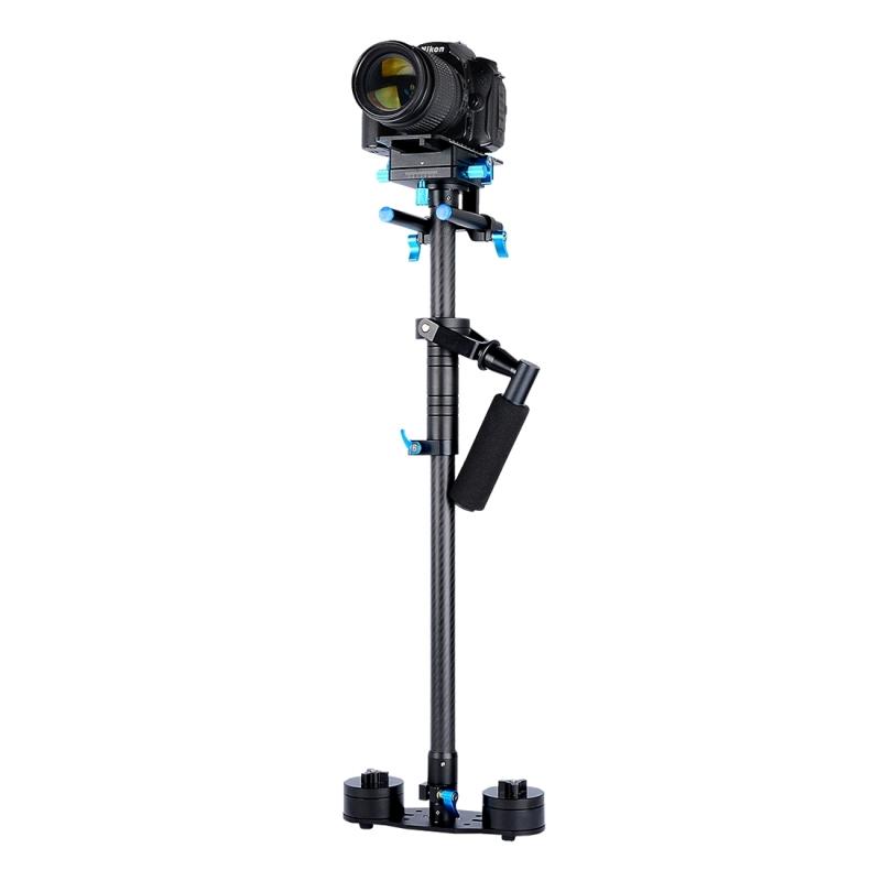 YELANGU S120T Professionele 70-120 cm Koolstofvezel Handheld Stabilisator voor DSLR & DV Digital Video Camera  Maximaal draagvermogen: 5.5 kg