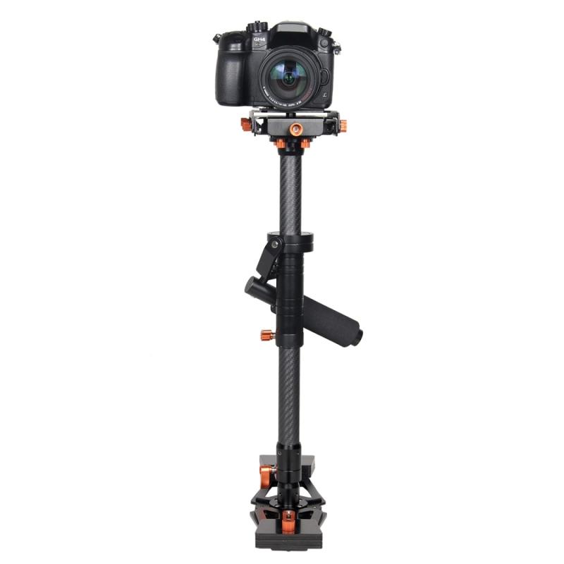 YELANGU S800 Professionele 47-80cm Koolstofvezel Handheld Stabilisator voor DSLR & DV Digitale Video Camera, Maximaal draagvermogen: 5 Kg