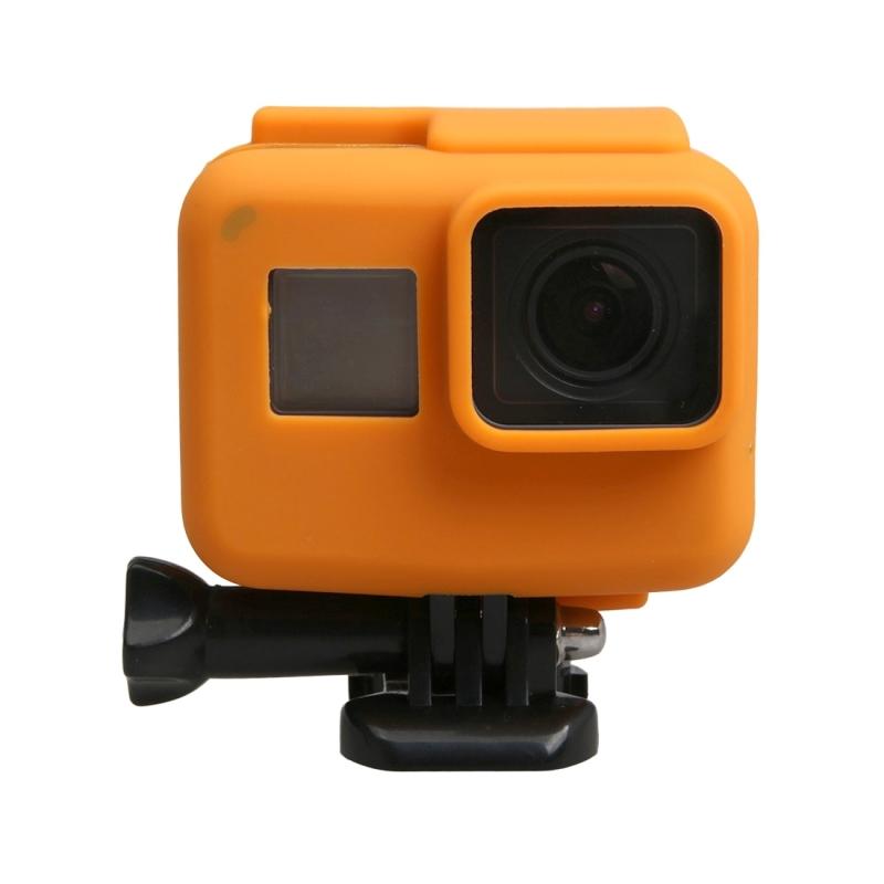 orgineel voor GoPro HERO 5 siliconen rand Frame Mount huisvesting beschermings hoesje Cover Shell(Oranje)