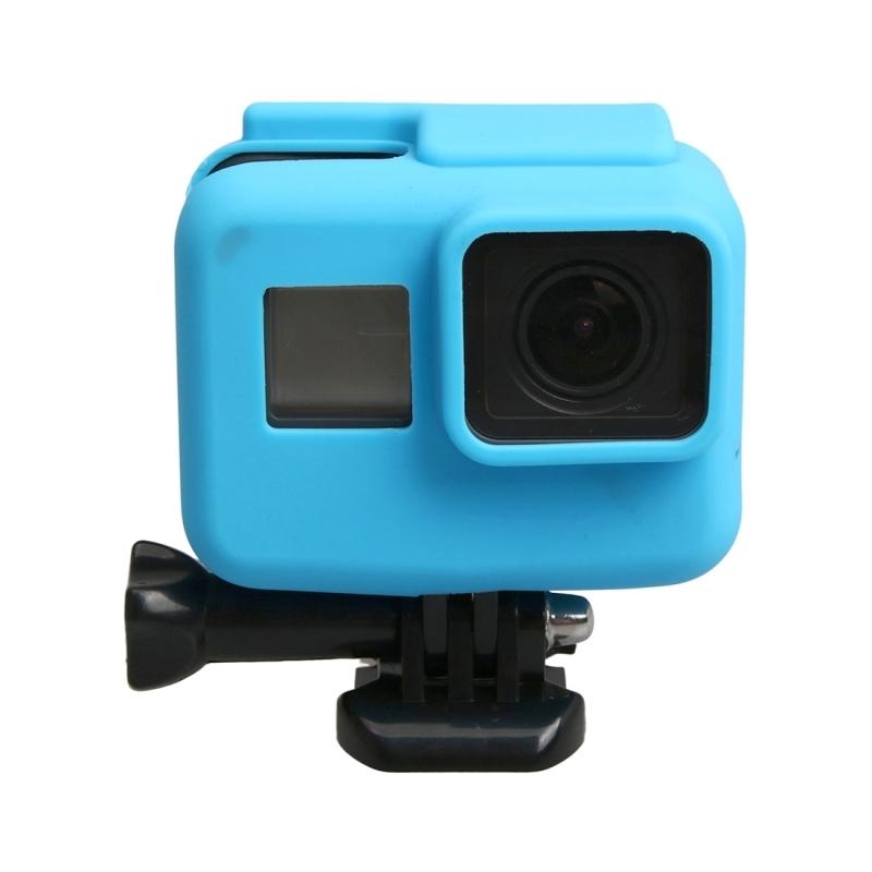 orgineel voor GoPro HERO 5 siliconen rand Frame Mount huisvesting beschermings hoesje Cover Shell(blauw)
