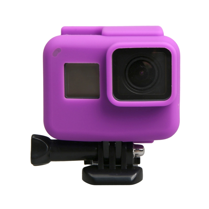 orgineel voor GoPro HERO 5 siliconen rand Frame Mount huisvesting beschermings hoesje Cover Shell(paars)
