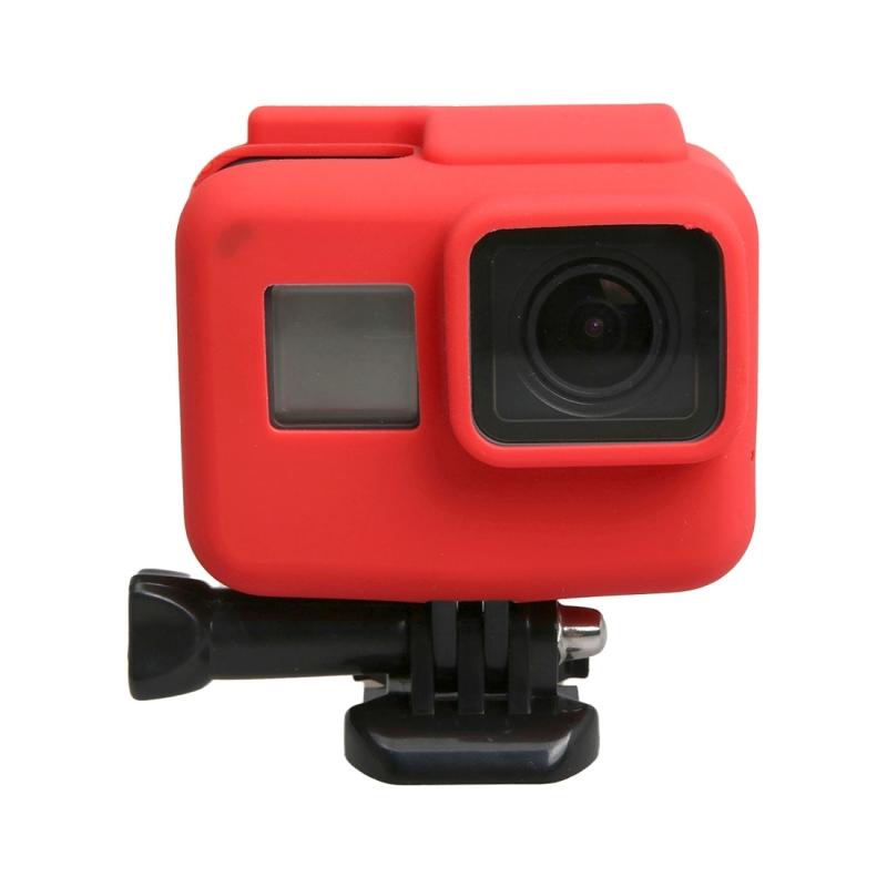 orgineel voor GoPro HERO 5 siliconen rand Frame Mount huisvesting beschermings hoesje Cover Shell(rood)
