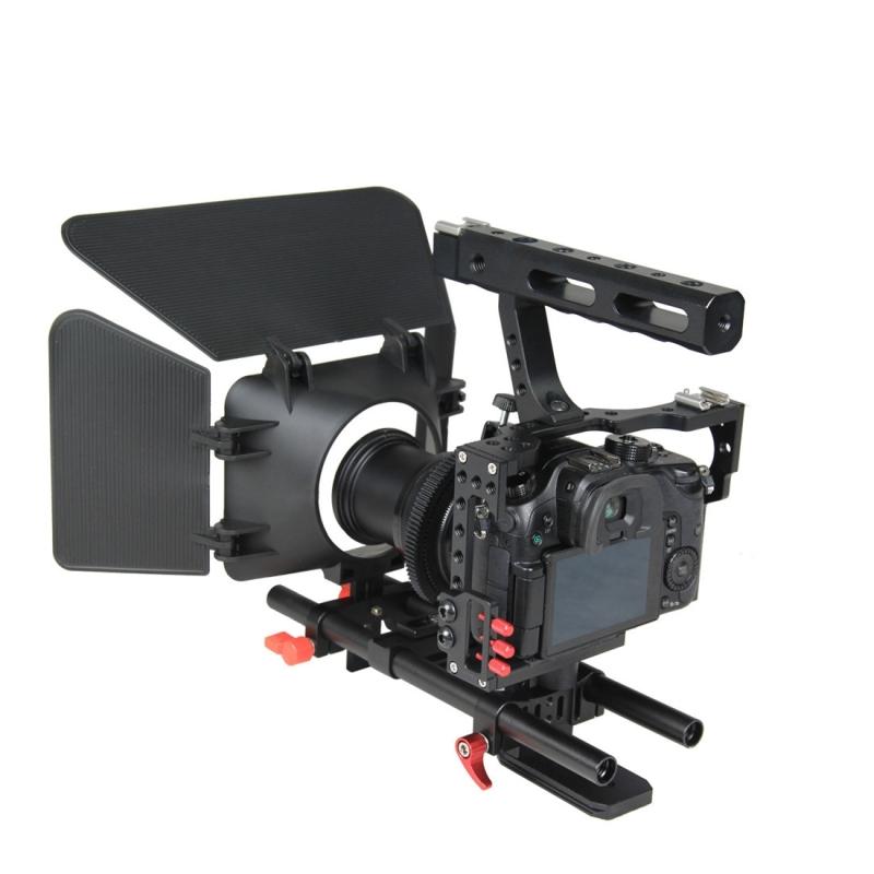 YELANGU YLG1105A A7 Video Camera Kooi Set inclusief Stabilisator / Volg Focus / Matte Box voor Sony A7S / A7 / A7R / A7RII /  A7SII / Panasonic Lumix GH4 (rood)