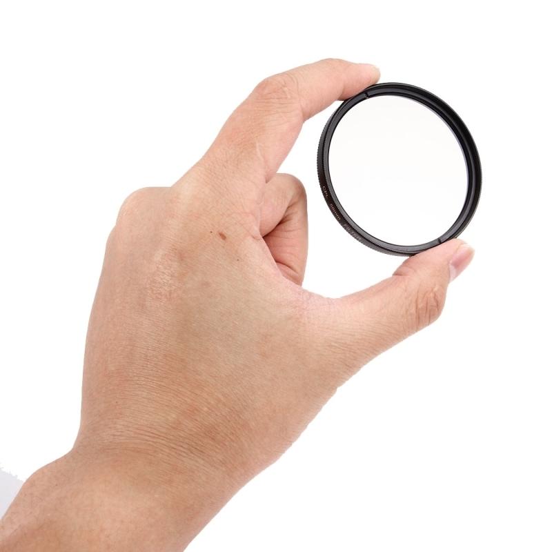 JUNESTAR 3 in 1 Proffesional 58mm Lens Filter(CPL + UV + FLD / Paars) voor GoPro & Xiaomi Xiaoyi Yi Sport actiecamera