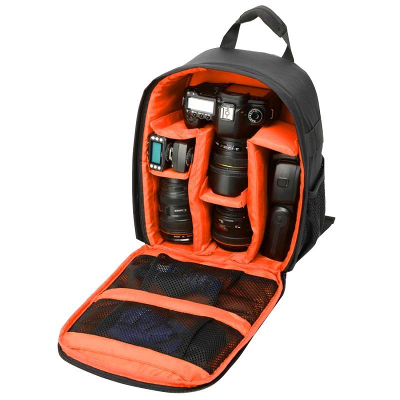 INDEPMAN DL-B013 Waterbestendige Buitensport Backpack Rugtas Camera Tablet Tas voor GoPro, SJCAM, Nikon, Canon, Xiaomi Xiaoyi YI, iPad, Apple, Samsung, Huawei, Afmetingen: 26.5 x 12.5 x 33 cm (Oranje)
