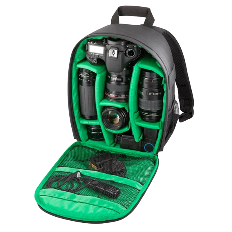 INDEPMAN DL-B013 Waterbestendige Buitensport Backpack Rugtas Camera Tablet Tas voor GoPro, SJCAM, Nikon, Canon, Xiaomi Xiaoyi YI, iPad, Apple, Samsung, Huawei, Afmetingen: 26.5 x 12.5 x 33 cm (groen)