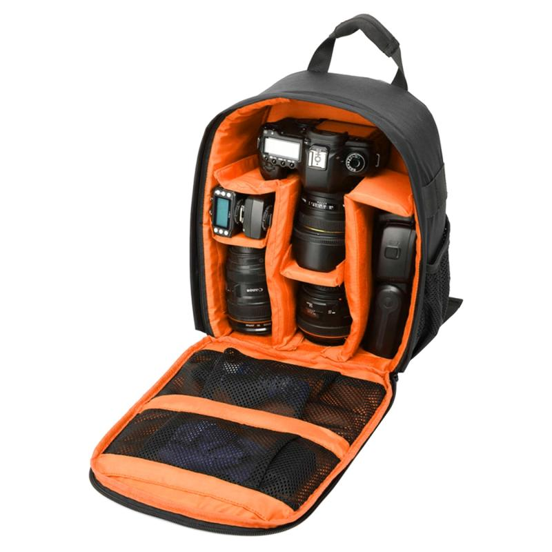 DL-B027 Waterbestendige Buitensport Backpack Rugtas DSLR Camera Tas voor GoPro, SJCAM, Nikon, Canon, Xiaomi Xiaoyi YI, Afmetingen: 27.5 x 12.5 x 34 cm (Oranje)