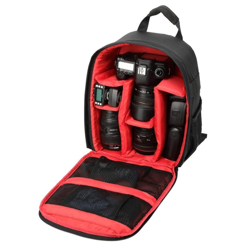 DL-B028 Waterbestendige Buitensport Backpack Rugtas DSLR Camera Tas voor GoPro, SJCAM, Nikon, Canon, Xiaomi Xiaoyi YI, Afmetingen: 27.5 x 12.5 x 34 cm (rood)