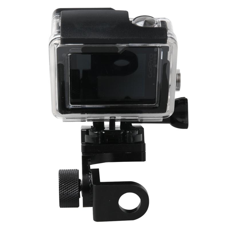 Motorfiets Rearview spiegel CNC aluminiumlegering Stent vaste beugel houder voor GoPro HERO4 /3+ /3  Xiaomi Xiaoyi  SJCAM Camera(zwart)