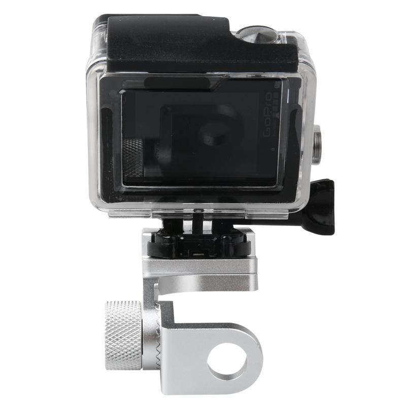 Motorfiets Rearview spiegel CNC aluminiumlegering Stent vaste beugel houder voor GoPro HERO4 /3+ /3  Xiaomi Xiaoyi  SJCAM Camera(zilver)