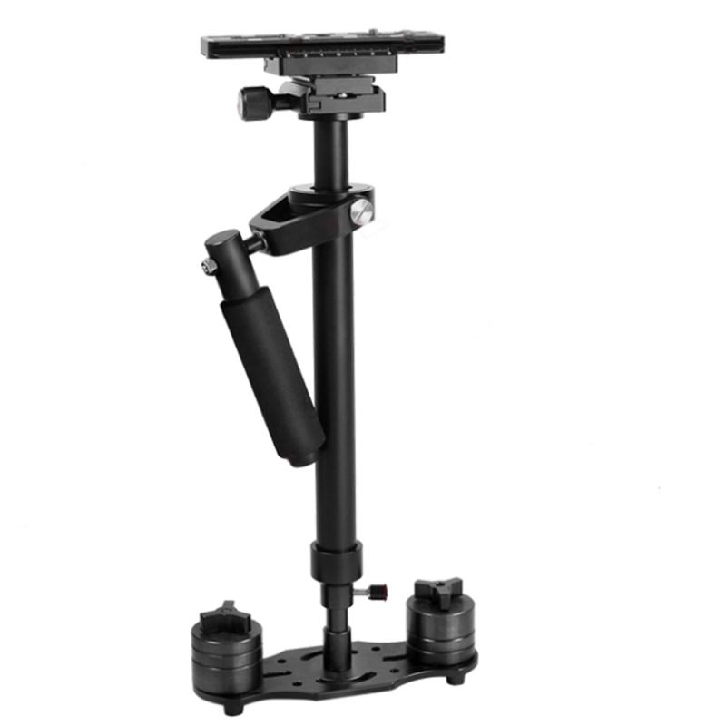 YELANGU S60N Aluminium Handheld Stabilisator voor Camcorder DV Video DSLR Camera (zwart)