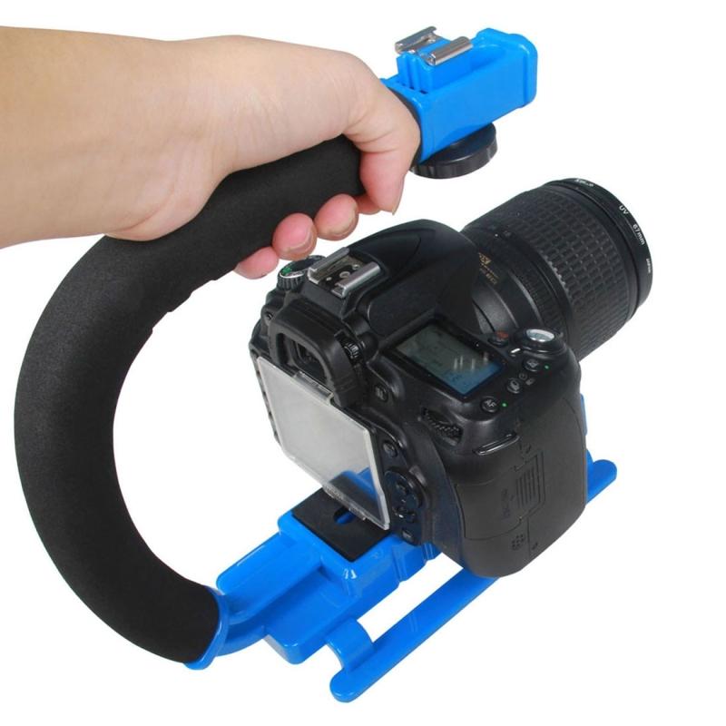YELANGU S2-4 YLG0106B-D C-Vormige Video Handgreep Stabilisator voor DSLR DV Camera (blauw)