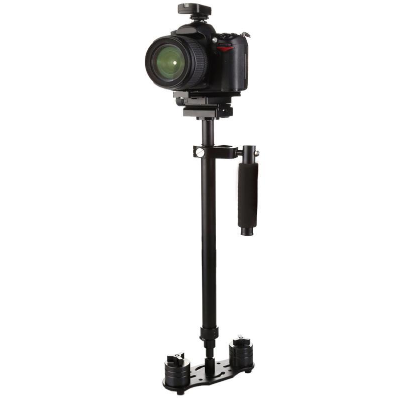 S80+ 80cm Handheld Stabilisator met Snelkoppel Plaat voor Camcorder DV Video DSLR Camera (zwart)