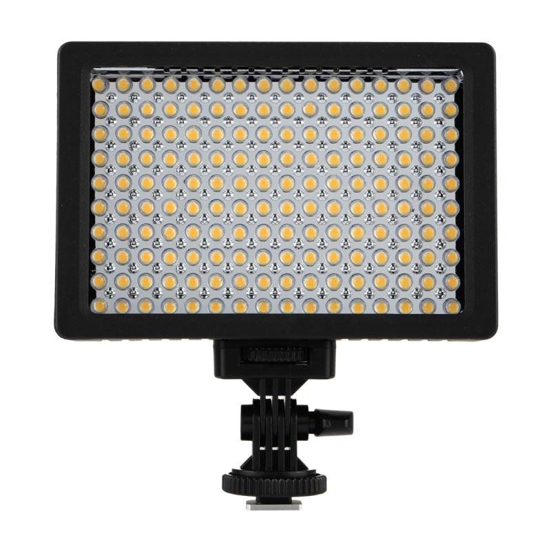 HD-160 Wit Licht LED Video Lamp Vullicht met 3 Filter Platen voor Canon Nikon DSLR Camera