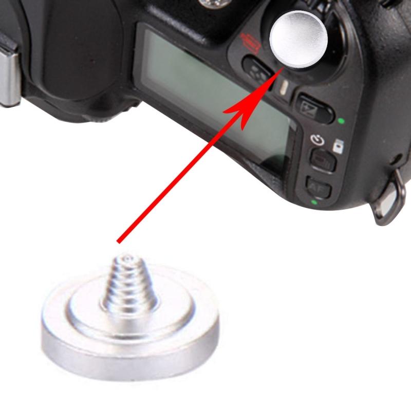 Universele Metalen Camera Ontspanknop, Diameter: 11mm, Dikte: 2mm (zilver)