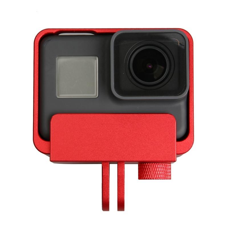 Voor GoPro HERO 5 aluminiumlegering grens Frame Mount beschermings huisvesting hoesje Cover(rood)