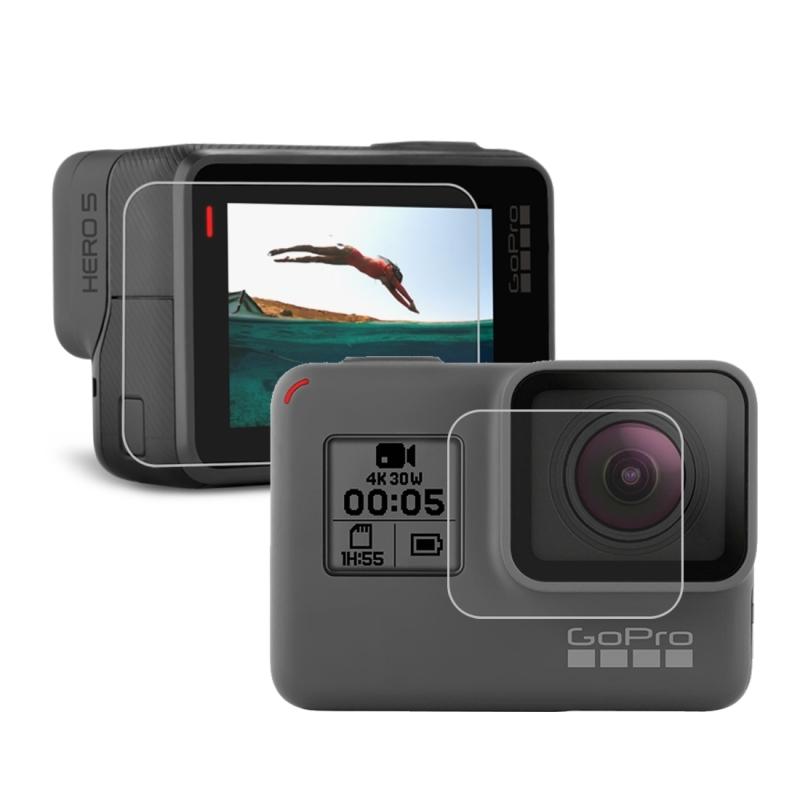 De Lens van de Camera van het HERO 5 van de GoPro van voor beschermings Film + LCD Dispaly scherm beschermings