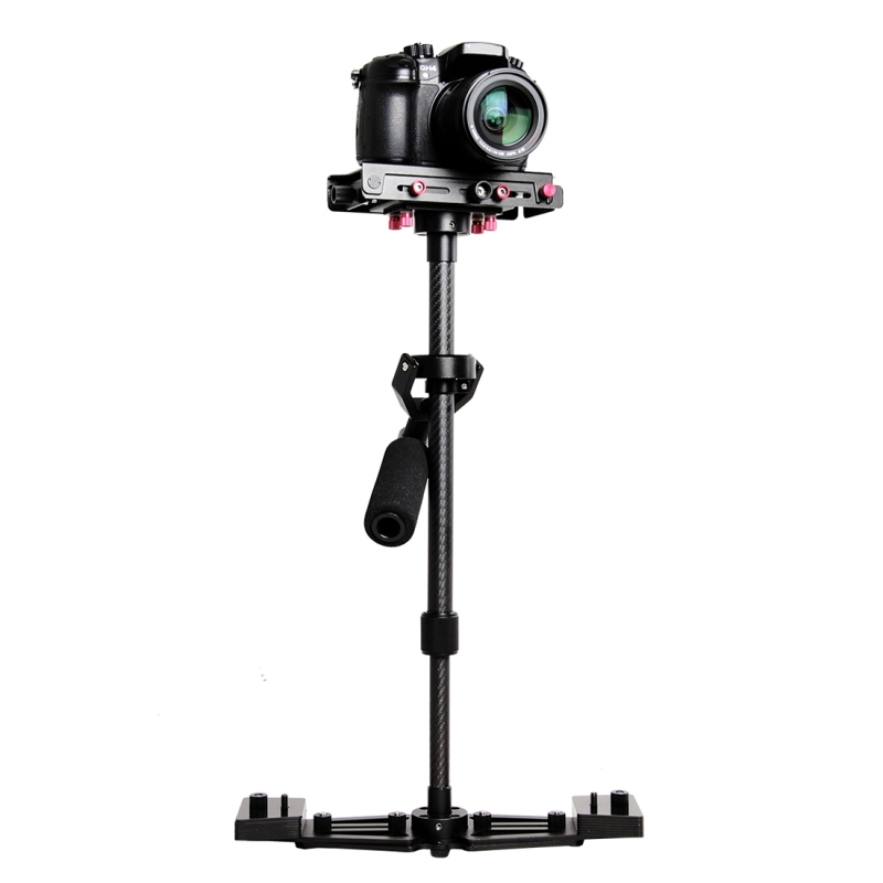 YELANGU YLG0107K Professionele 40-67cm Luchtvaart Aluminium + Koolstofvezel Handheld Stabilisator voor DSLR Camera DV