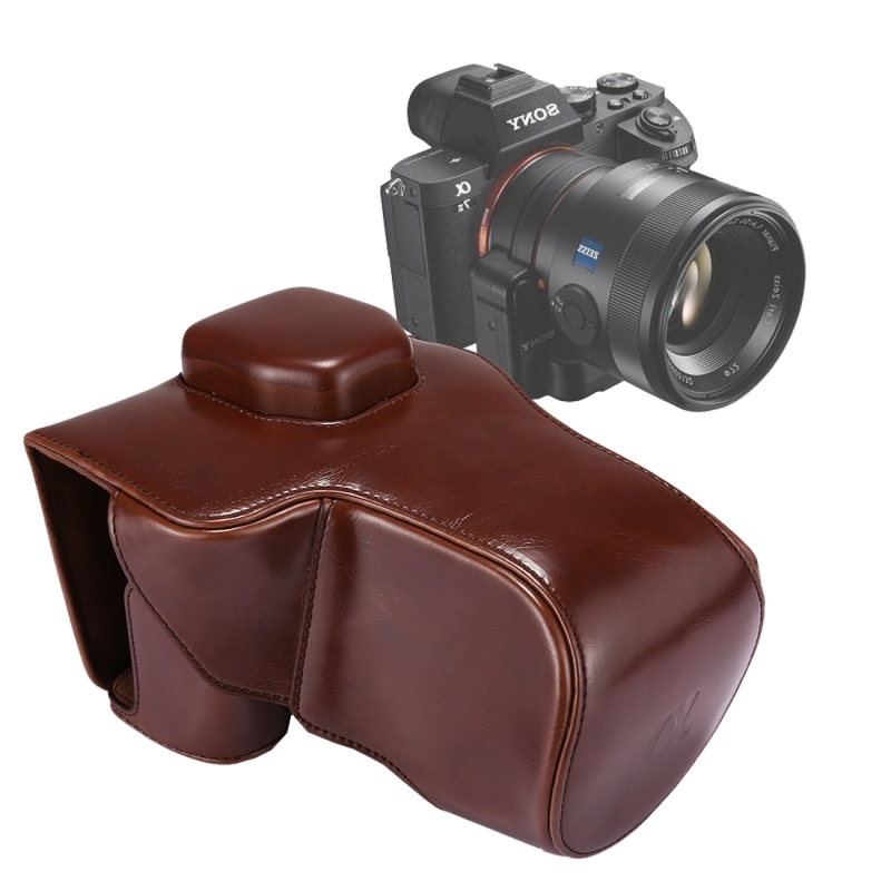 Full Body Camera PU lederen Case tas met riem voor Sony A7 II / A7R II / A7S II(Coffee)