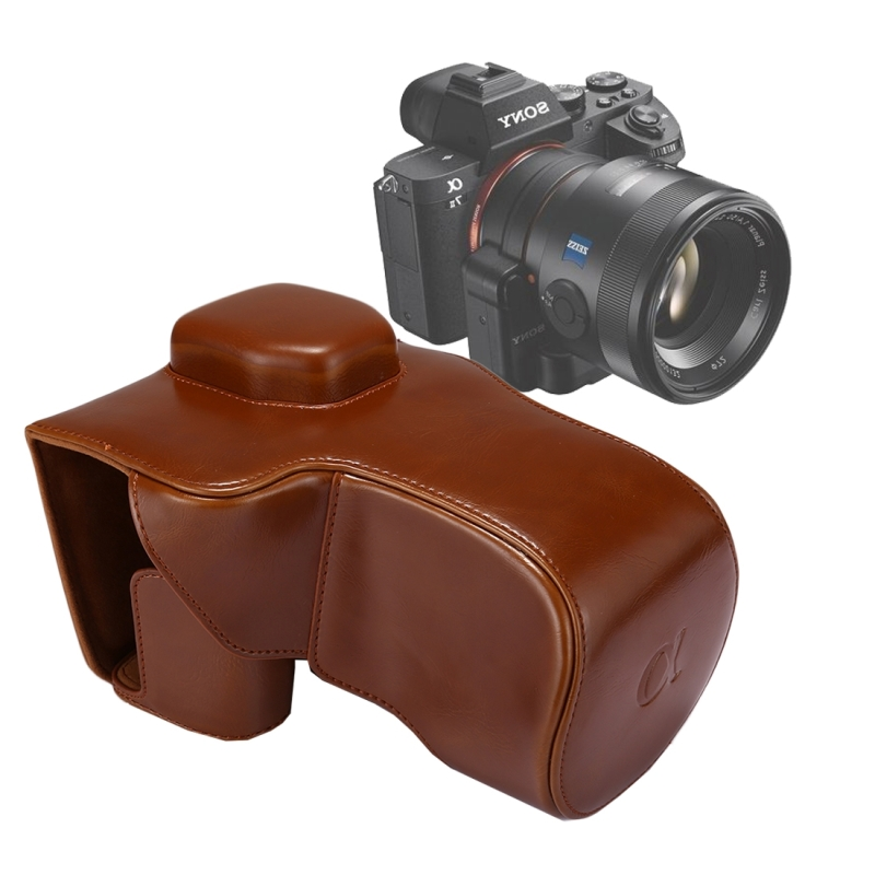 Full Body Camera PU lederen Case tas met riem voor Sony A7 II / A7R II / A7S II(Brown)