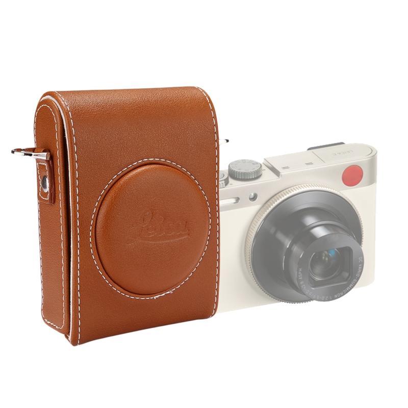 Full Body Camera PU lederen Case tas met riem voor Leica C / Panasonic LF1(Brown)