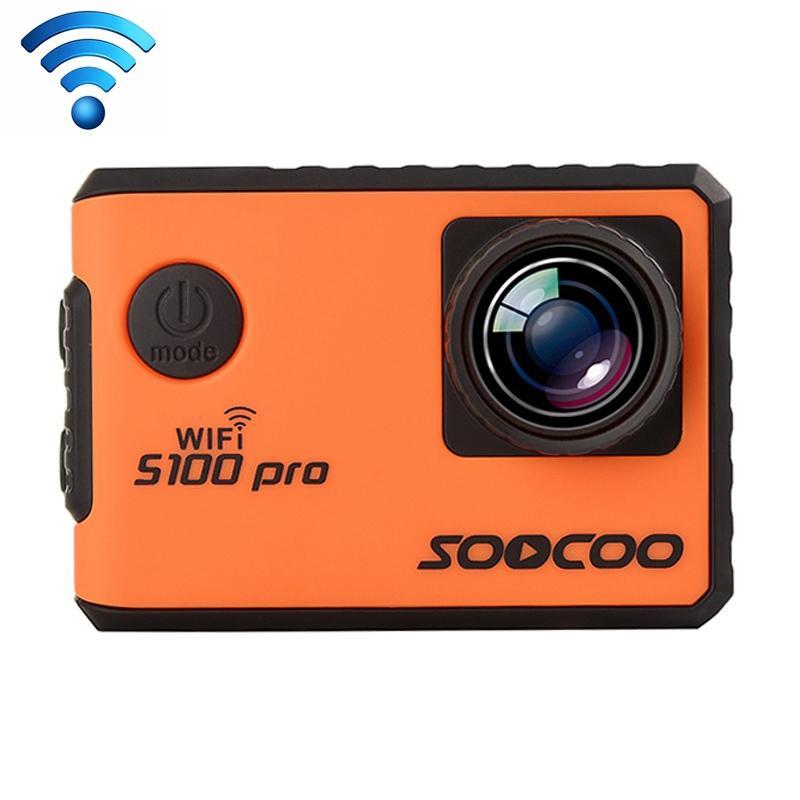 SOOCOO F100 Pro 4K WiFi-actiecamera met waterdichte huisvesting Case 2.0 inch scherm 170 graden groothoek (oranje)