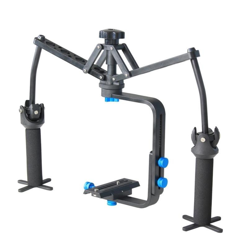 YELANGU YLG-0108F Spider Stabilisator met snelkoppel plaat voor Camcorder DV Video DSLR Camera