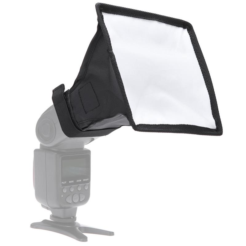 Portable Opvouwbare Flitslicht Soft Box  is zonder Flitser houder  Afmetingen: 15 x 17 cm (zwart + wit)