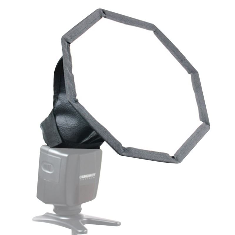 20cm Universele Opvouwbare Octangle Stijl Flitslicht Soft Box, is zonder Flitser houder (zwart + wit)