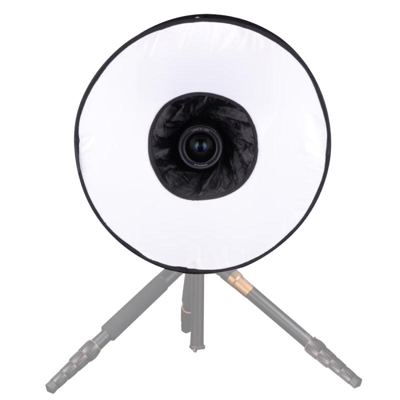 45cm Universele Opvouwbare Ring Stijl Flitslicht Soft Box, is zonder Flitser houder (zwart + wit)