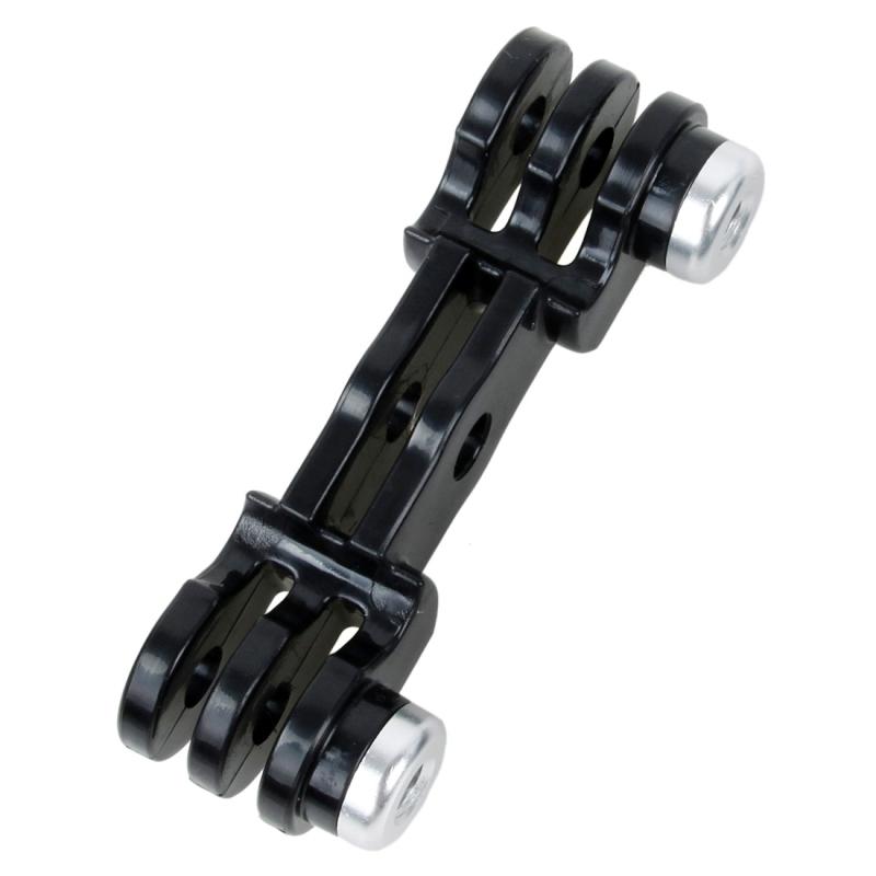 TMC HR385 dubbele GoPro / GoPro LED verbinding monteren voor GoPro HERO4 sessie /4 /3+ /3 /2 /1(zwart)