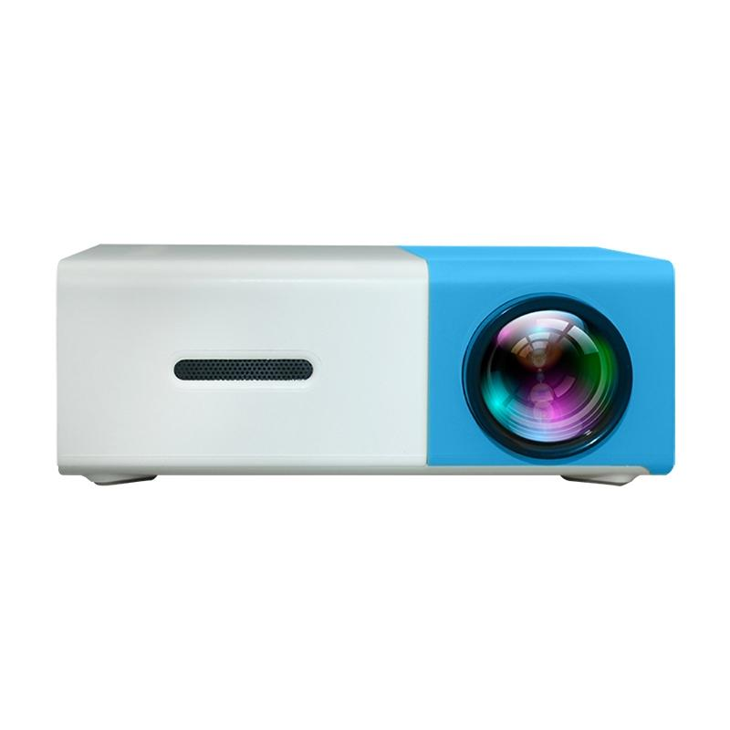 YG300 400LM Portable Mini Home Theater LED Projector with Remote Controller  Support HDMI  AV  SD  USB Interfaces (Blue)