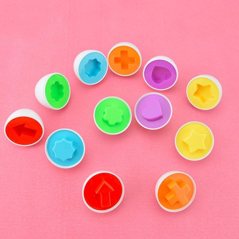 Afbeelding van 6 stuks kinderen intelligentie speelgoed ei speelgoed patroon Random levering