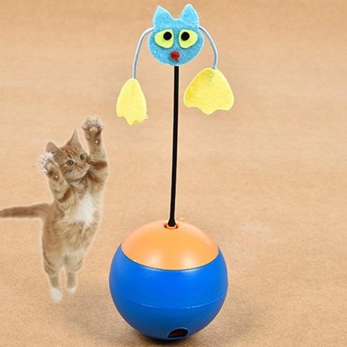 Afbeelding van Huisdier speelgoed elektrische Radium spotlight Tumbler speelgoed kat speelgoed lekkage voedsel speelgoed zonder batteries(Blue)