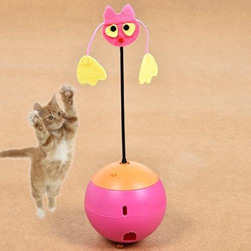 Afbeelding van Huisdier speelgoed elektrische Radium spotlight Tumbler speelgoed kat speelgoed lekkage voedsel speelgoed zonder batteries(Red)