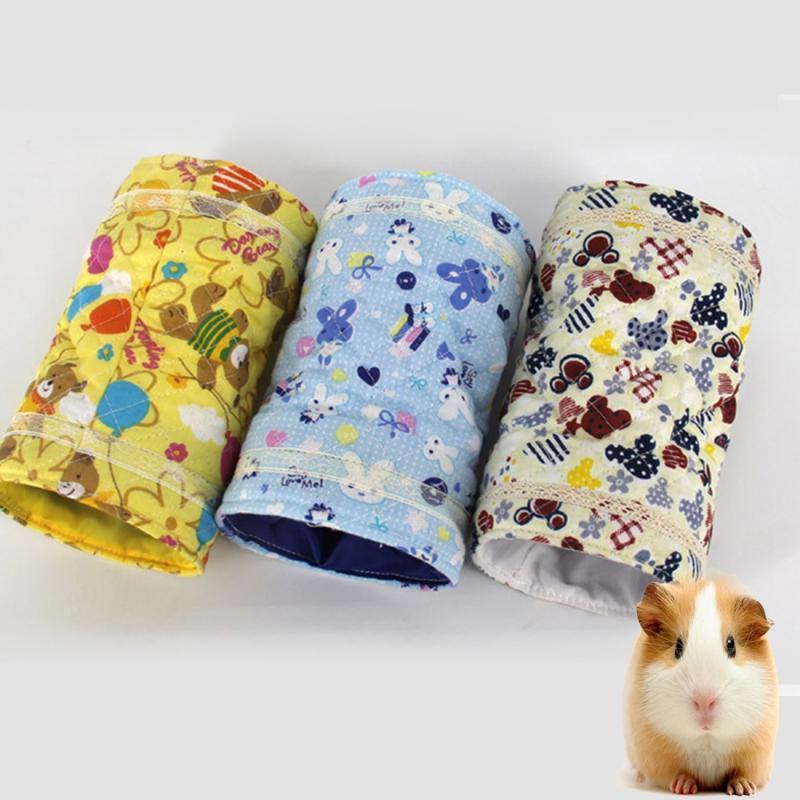 Afbeelding van Lente en herfst Cartoons patroon katoen Tunnel speelgoed Chinchilla Hamster warme twee-kanaals speelgoed willekeurige kleur-levering
