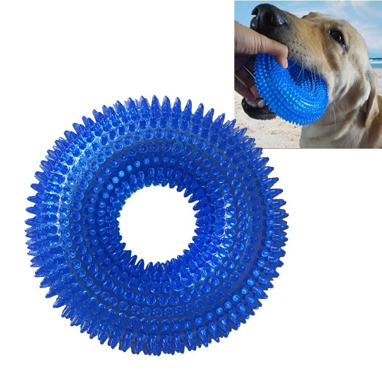 Afbeelding van Huisdier speelgoed netelige Ring klinkende beet resistente speelgoed voor grote huisdieren formaat: 12.5 * 12 5 cm (donkerblauw)
