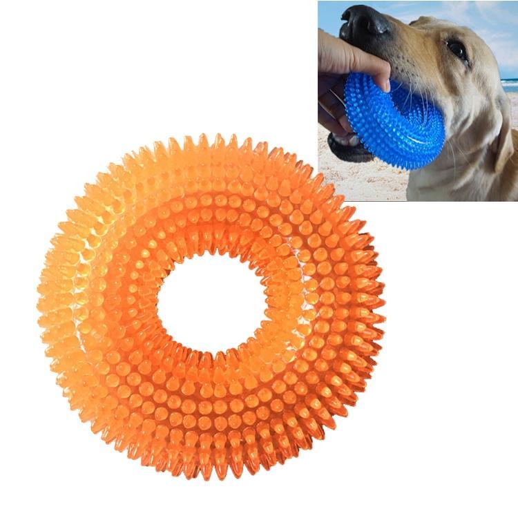 Afbeelding van Huisdier speelgoed netelige Ring klinkende beet resistente speelgoed voor grote huisdieren formaat: 12.5 * 12 5 cm (oranje)