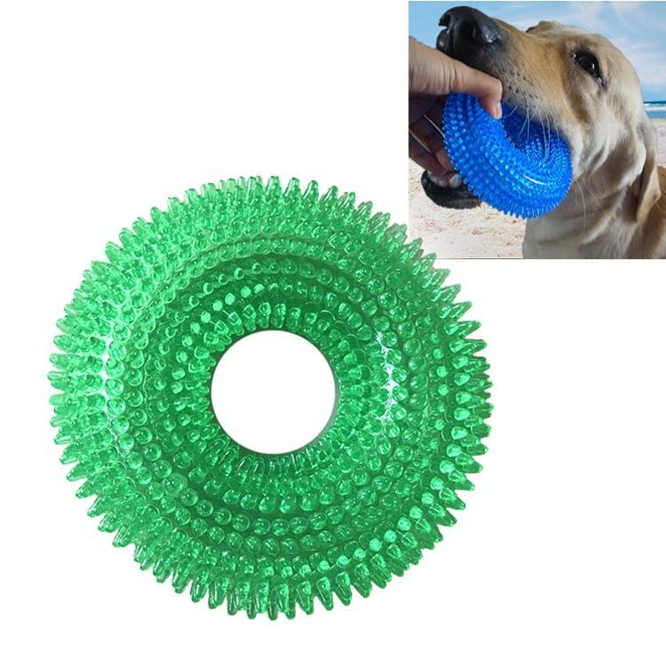 Afbeelding van Huisdier speelgoed netelige Ring klinkende beet resistente speelgoed voor grote huisdieren formaat: 12.5 * 12 5 cm (groen)
