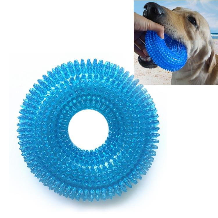 Afbeelding van Huisdier speelgoed netelige Ring klinkende beet resistente speelgoed voor grote huisdieren formaat: 12.5 * 12 5 cm (blauw)