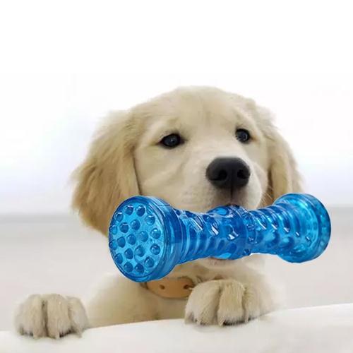 Afbeelding van Huisdier speelgoed halter Molar klinkende beet resistente tand speelgoed voor grote huisdieren Size: Small (5 * 12cm) (blauw)
