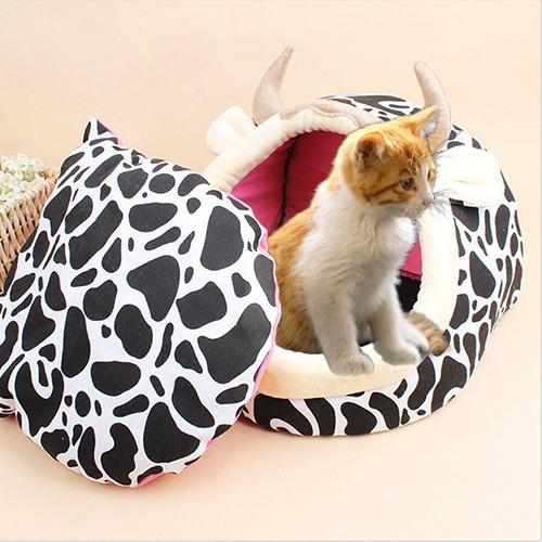 Afbeelding van Huisdier benodigdheden afneembare huisdieren Nest Cute Cartoon vorm Mongolië tas kat hondenhuis kleine grootte: 37 * 35cm