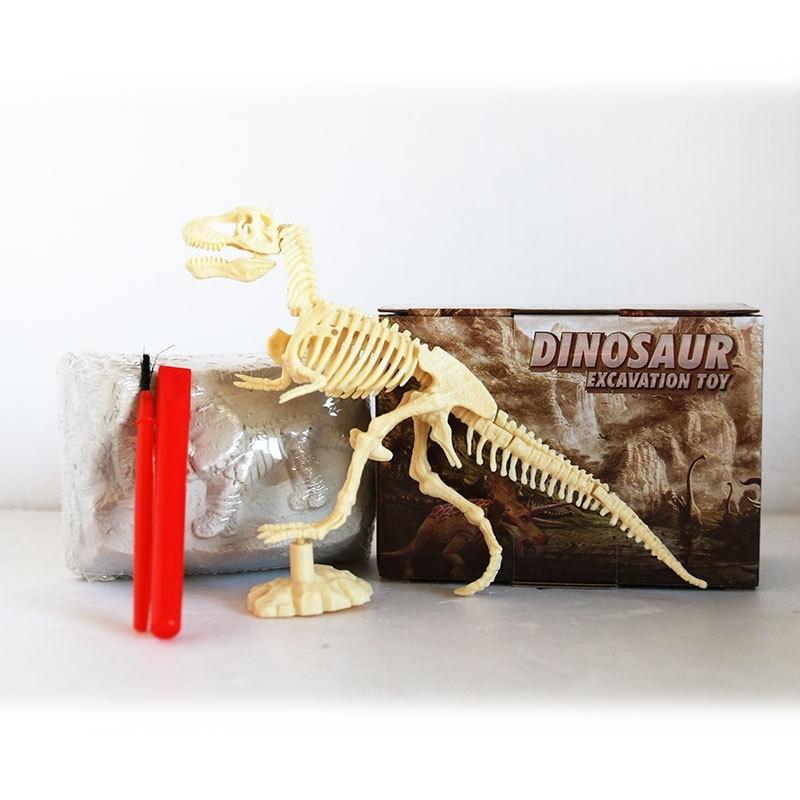 Afbeelding van Geassembleerde Tyrannosaurus skelet archeologische opgraving speelgoed simulatie fossiele Model handmatige speelgoed
